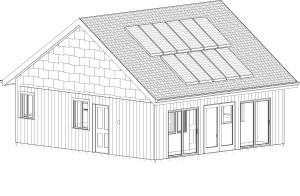 SW Elevation Solar Panels