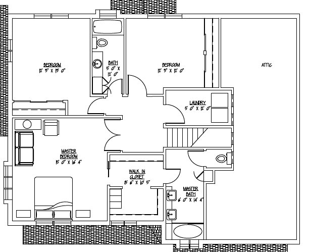 Turner2ndFloor with room sizes